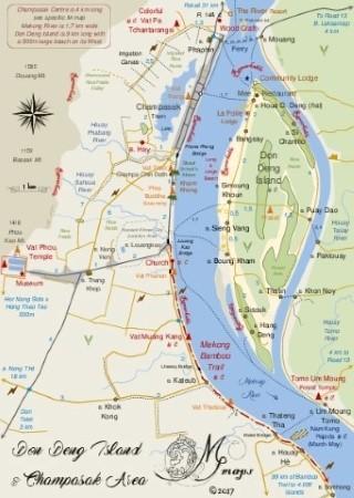 Free guidebook Mmap III Champasak loop Don Deng Island Mmaps